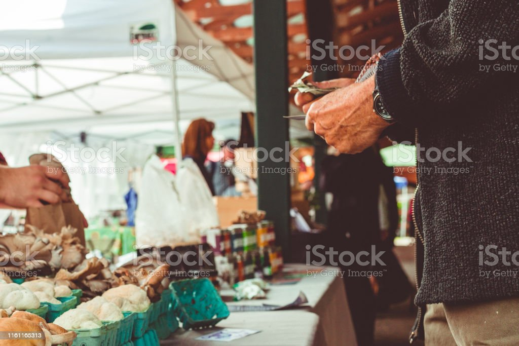 Variety Mushrooms for Sale at Outdoor Market