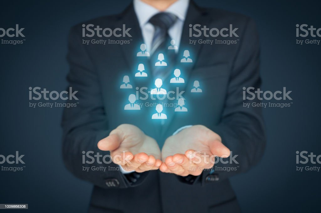 Customer care and human resources concepts stock photo