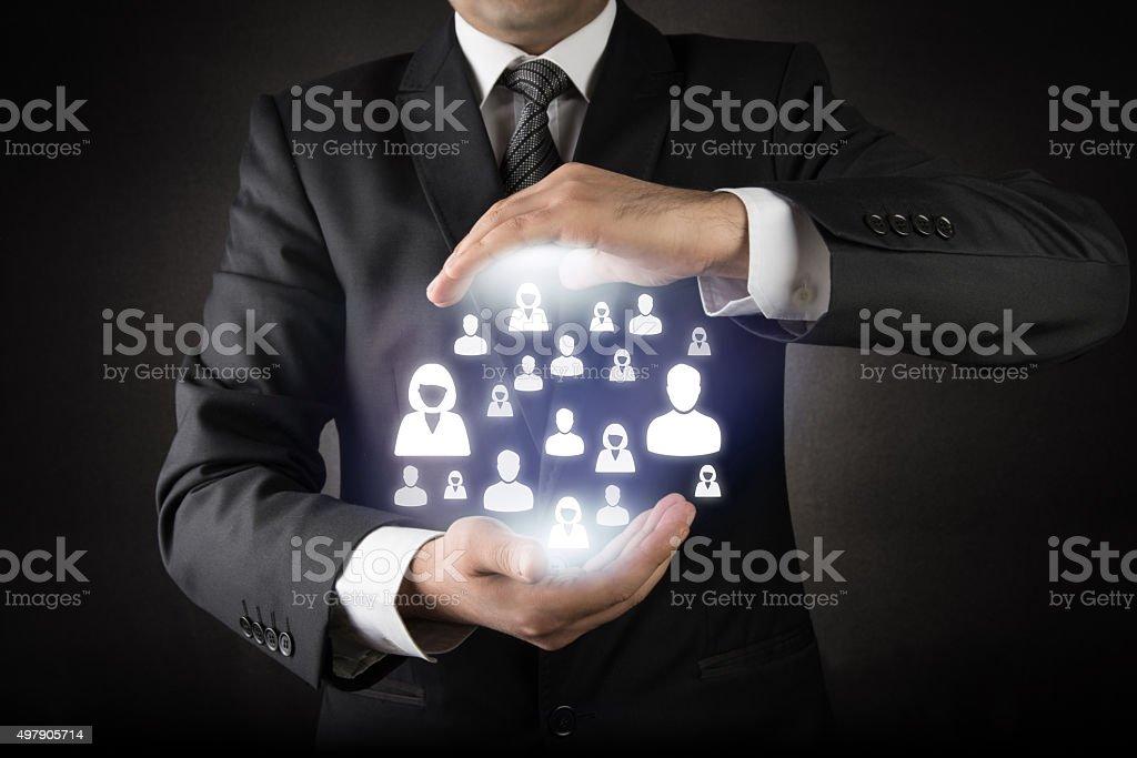 Customer care concept stock photo