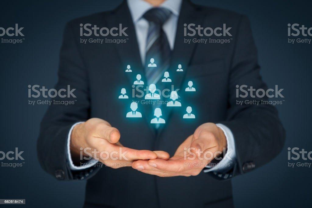 Kundenbetreuung, Human Resources, Marketing-Segmentierung und management – Foto