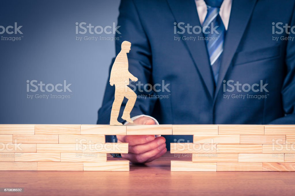 Customer care, support (help) and life insurance concept stock photo