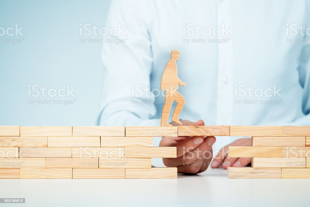 Customer care, support (help) and personal development concepts stock photo