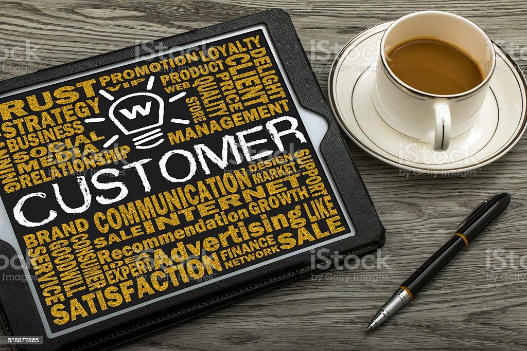 customer concept stock photo