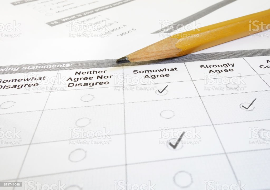 Customer feedback form stock photo