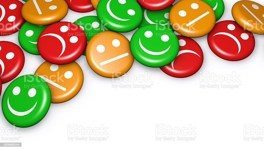 Customer Feedback Quality Survey Buttons stock photo