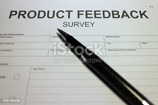 istock Customer Feedback Survey 479134428
