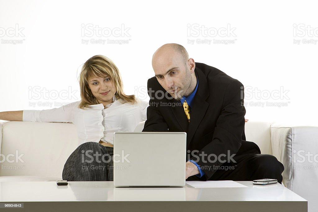 Customer Interface On Laptop royalty-free stock photo