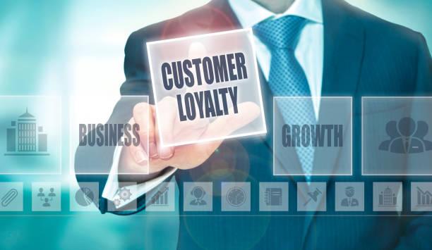 customer loyalty concept - fedeltà foto e immagini stock