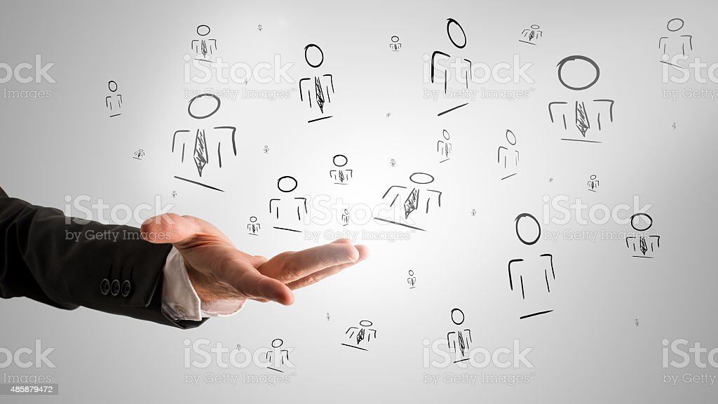 Customer managed relationship concept stock photo