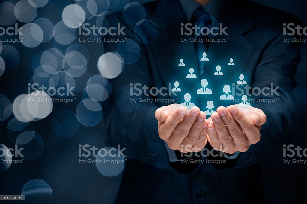 Customer or employees care concept stock photo