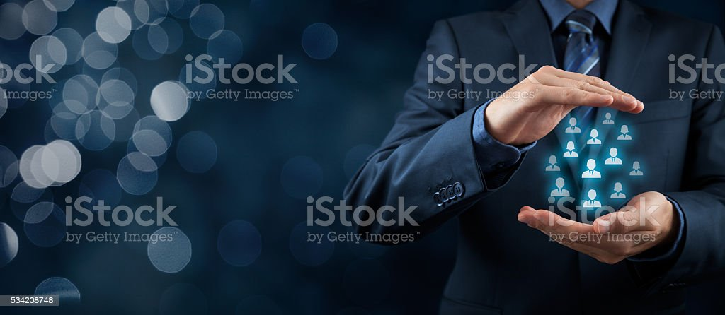 Customer or employees care concept royalty-free stock photo