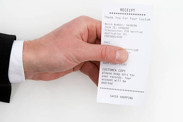 customer receipt - receipt stock photos and pictures