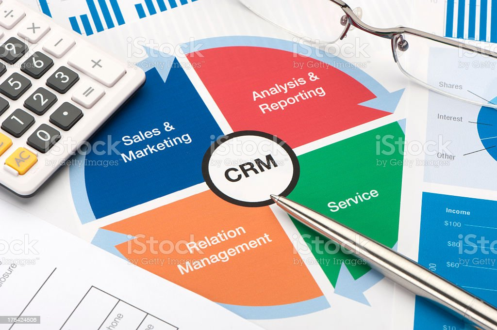 Customer Relationship Management business chart royalty-free stock photo
