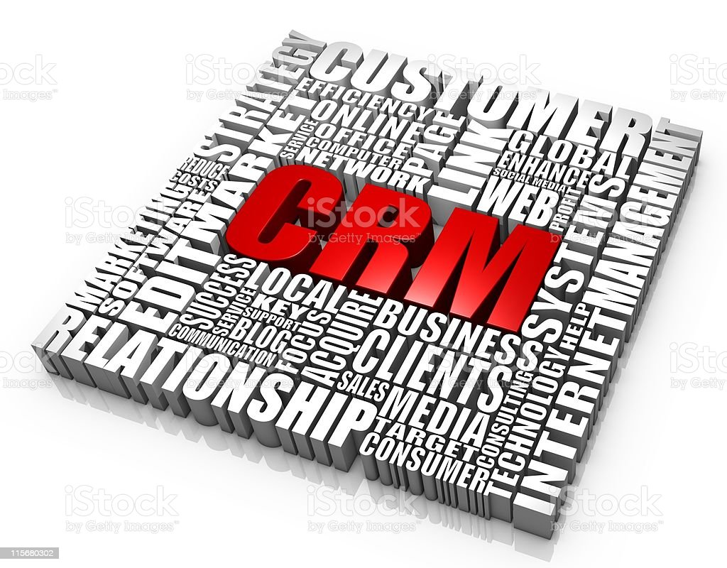 Customer Relationship Management royalty-free stock photo