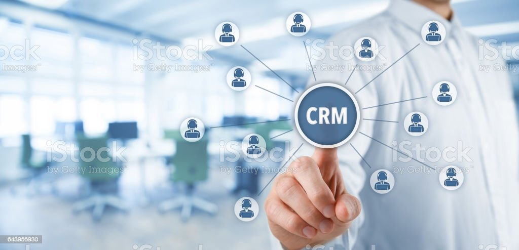Customer relationship management (CRM) stock photo