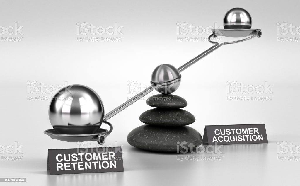 Acquisition de rétention VS clients - Photo