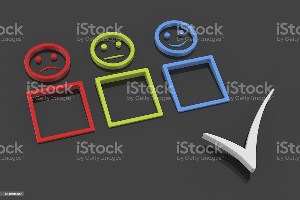 Customer Satisfaction and Check Mark royalty-free stock photo