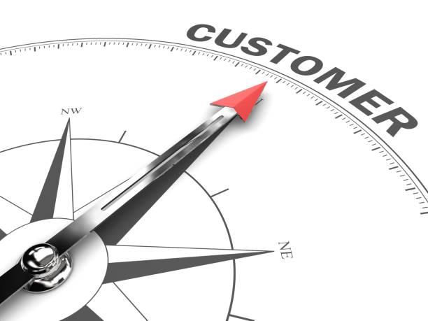 Kundenzufriedenheit Kompass Ziel der Richtung – Foto