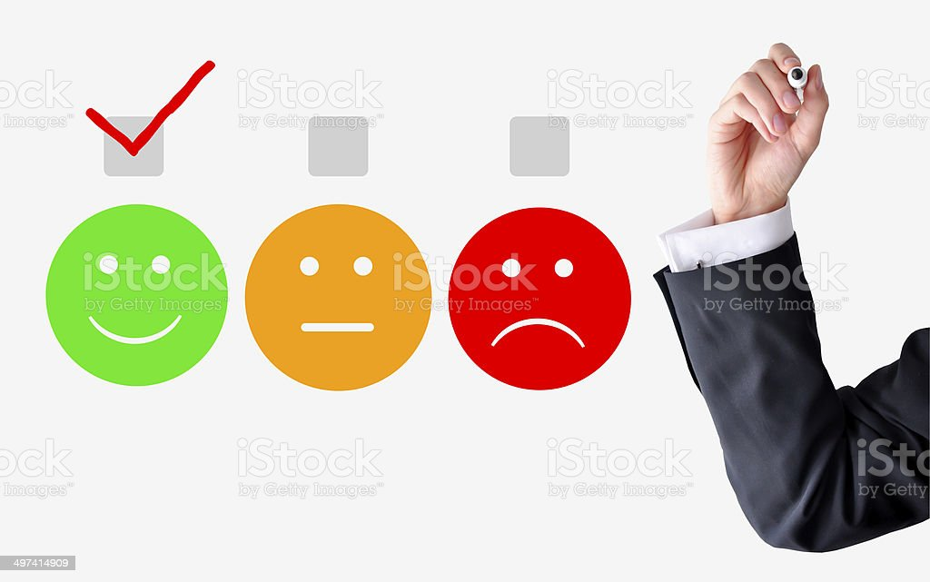 Customer satisfaction concept stock photo