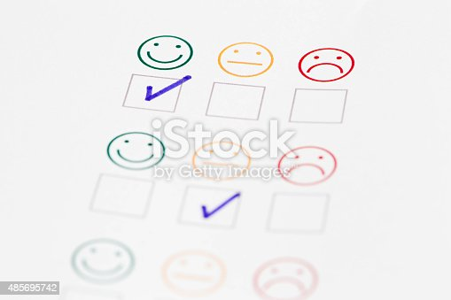 istock Customer Satisfaction on a White Background 485695742