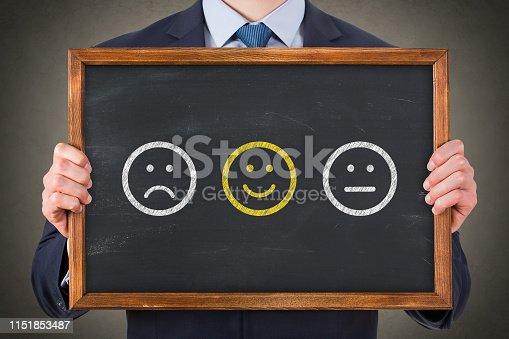 622323384 istock photo Customer Satisfaction on Blackboard 1151853487