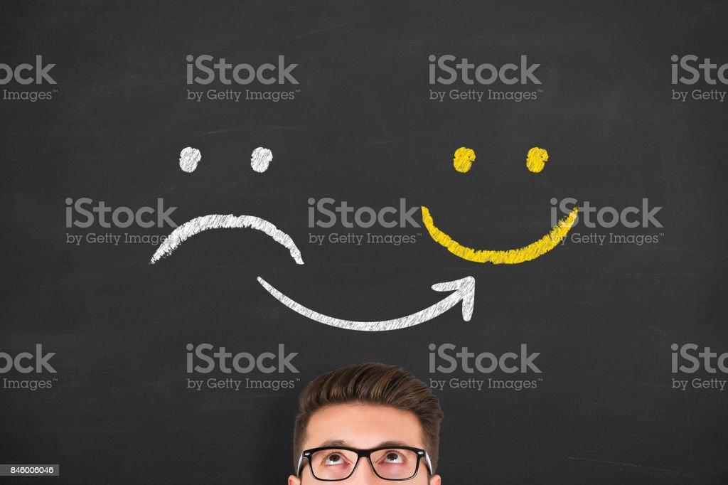Customer Satisfaction on Blackboard stock photo