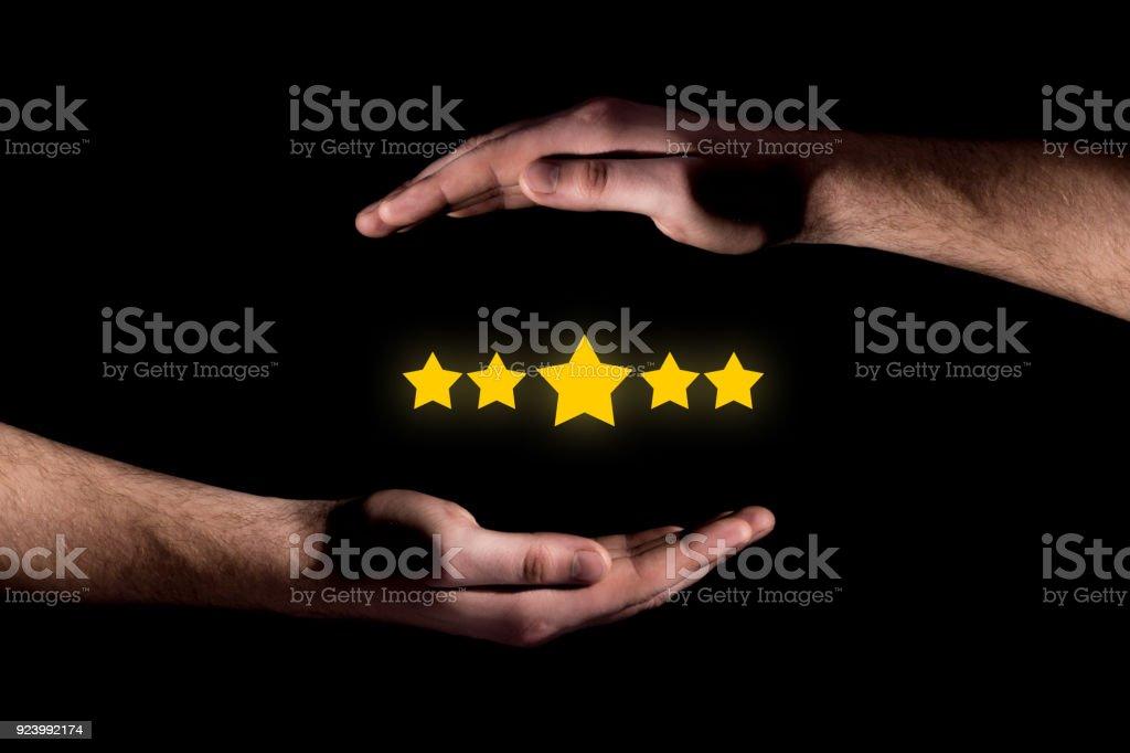 Customer satisfaction quality concept stock photo
