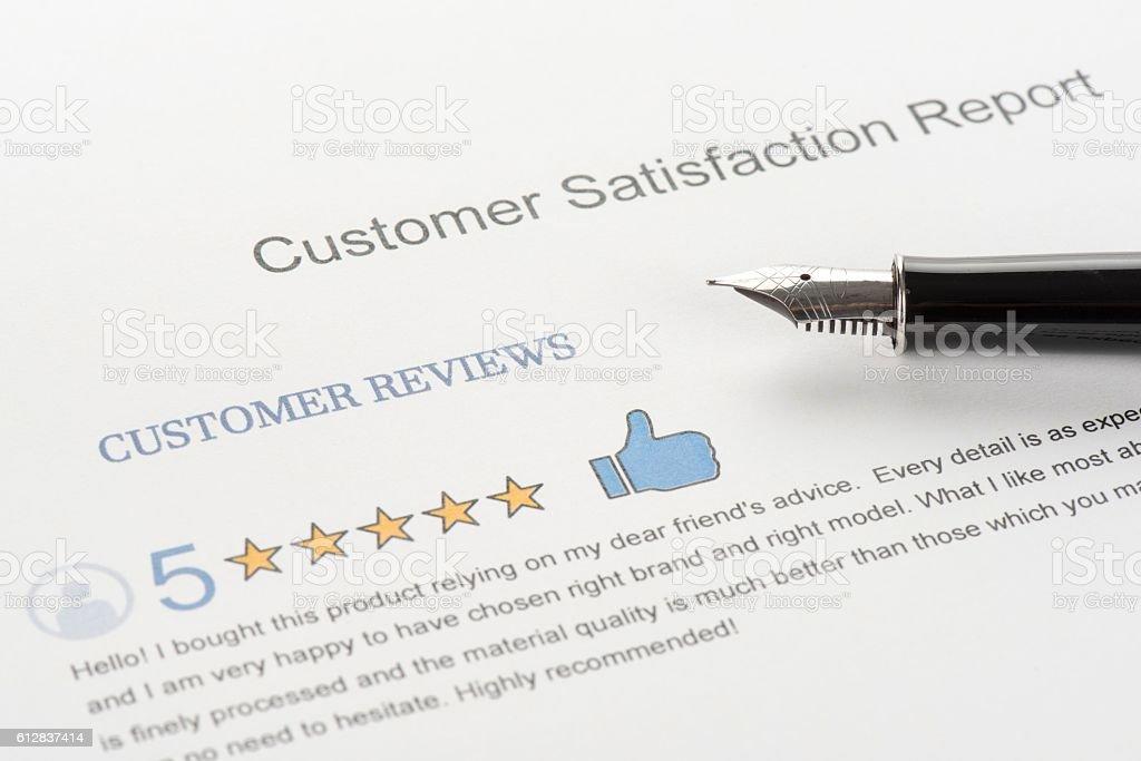 Customer Satisfaction Report stock photo