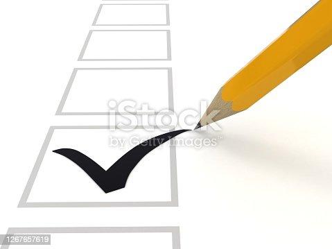 Customer satisfaction survey check mark