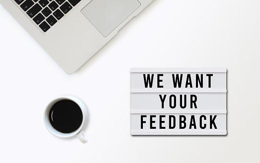 Customer satisfaction survey feedback lightbox