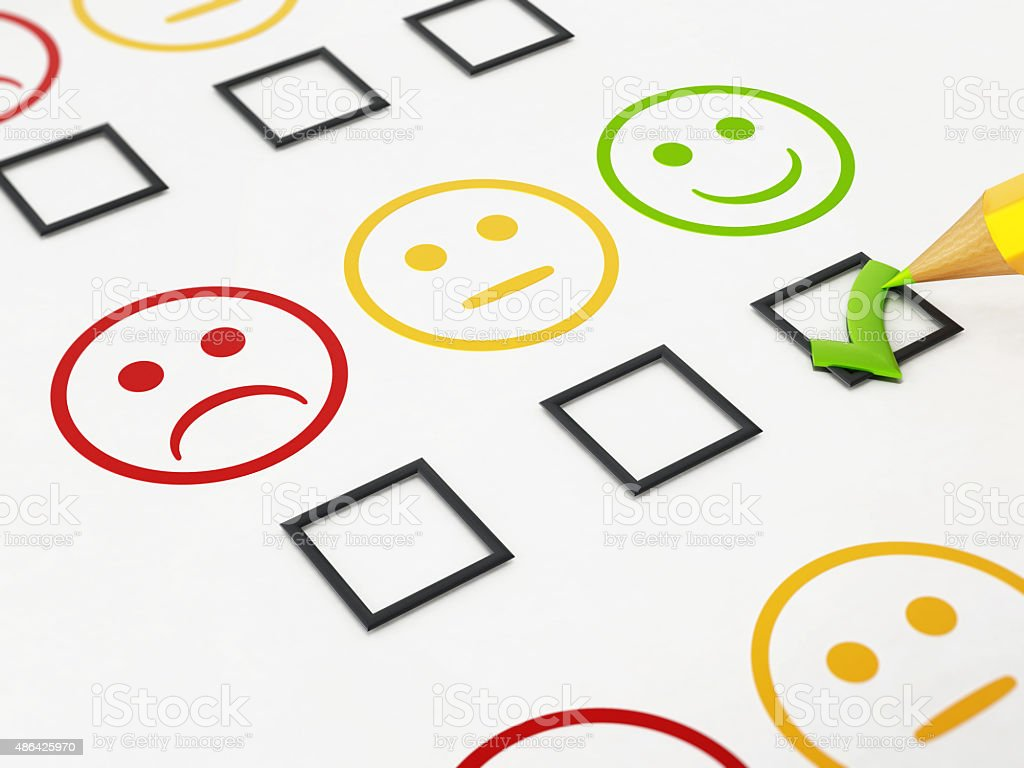 Customer satisfaction survey stock photo