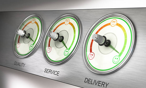 customer satisfaction terminal - happy test results - fotografias e filmes do acervo