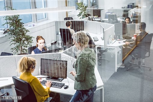 1090214584 istock photo Customer Service Agents Working In Office 1161741113
