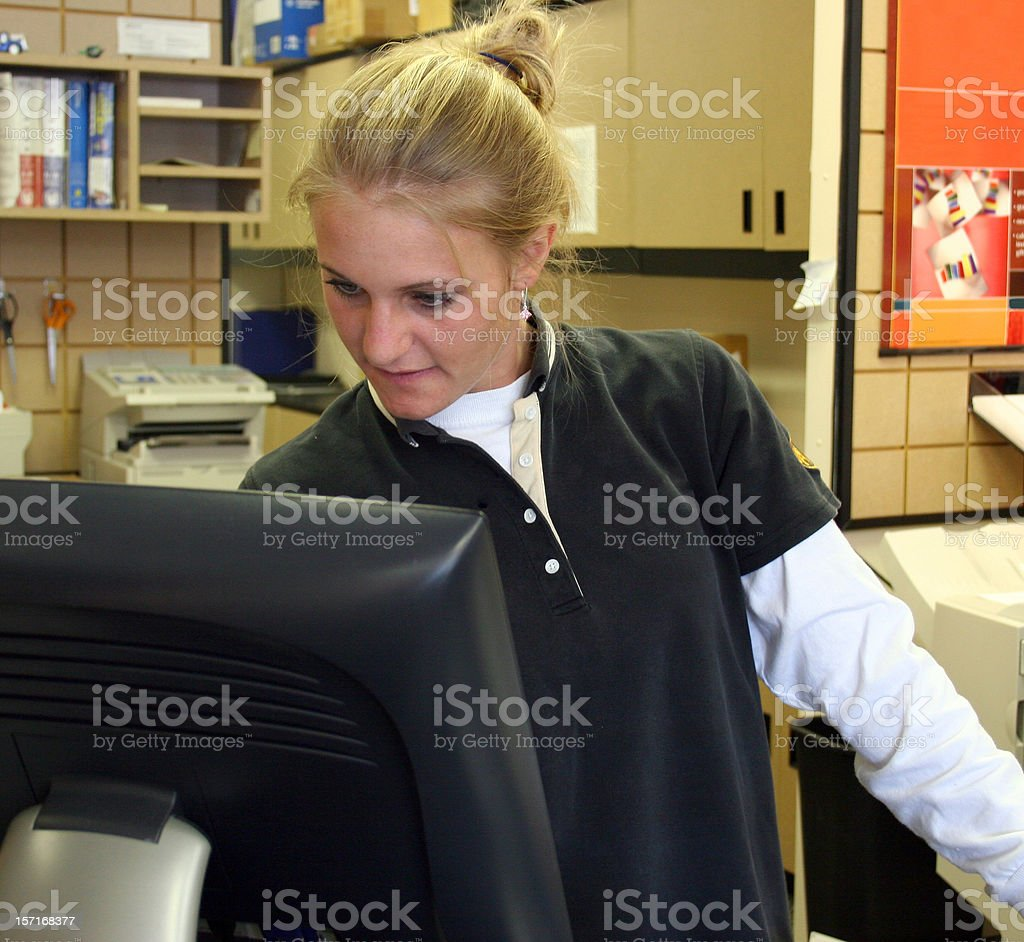 Customer Service Counter stock photo