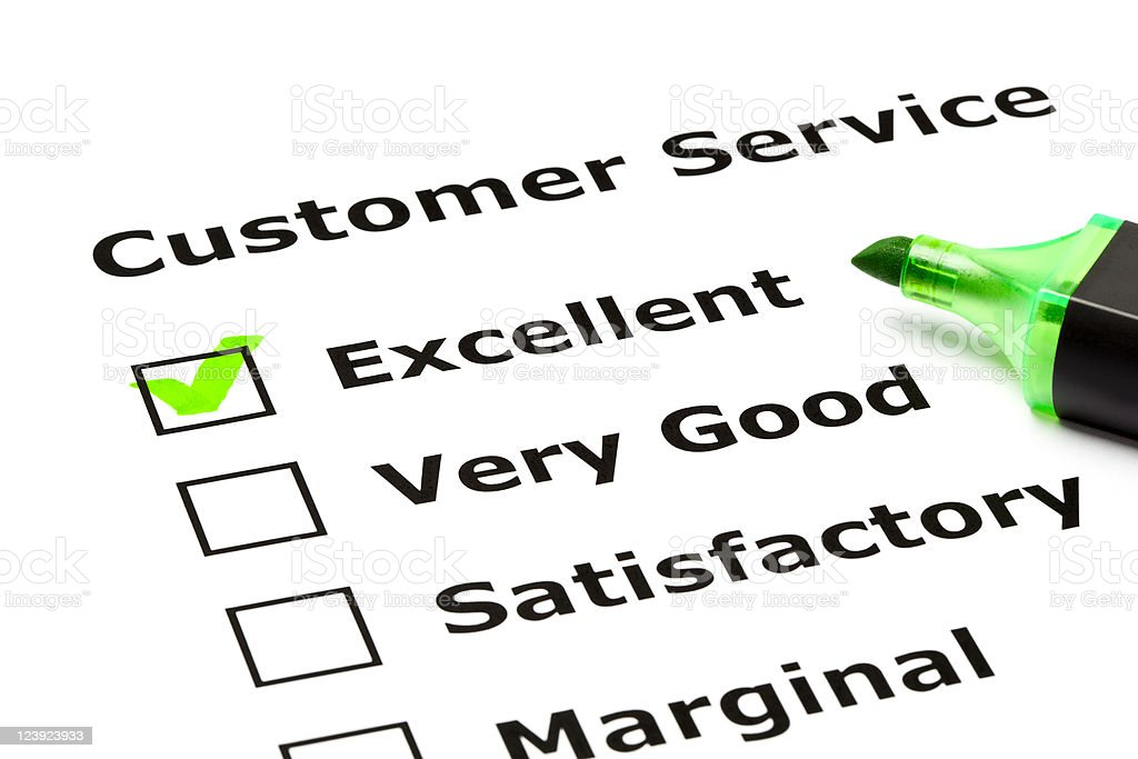 A customer service evaluation check list royalty-free stock photo