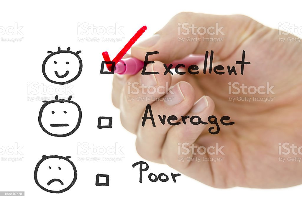 Customer service evaluation form royalty-free stock photo