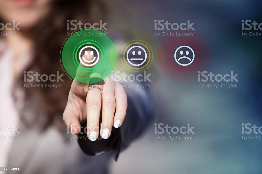 Customer service evaluation. royalty-free stock photo