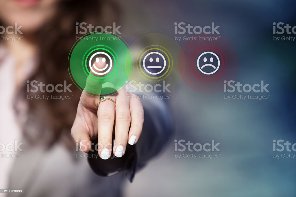 Customer service evaluation. stock photo