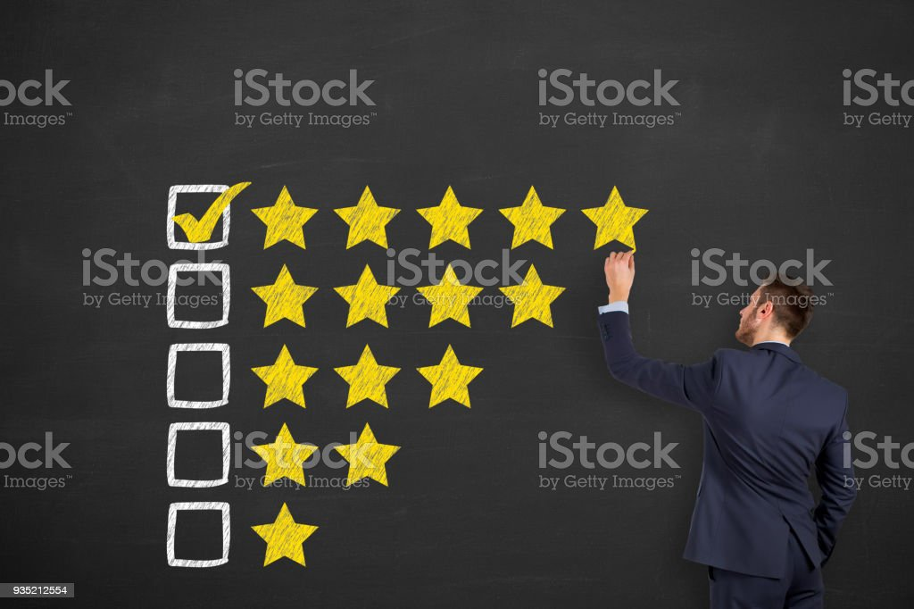 Customer service evaluation stock photo
