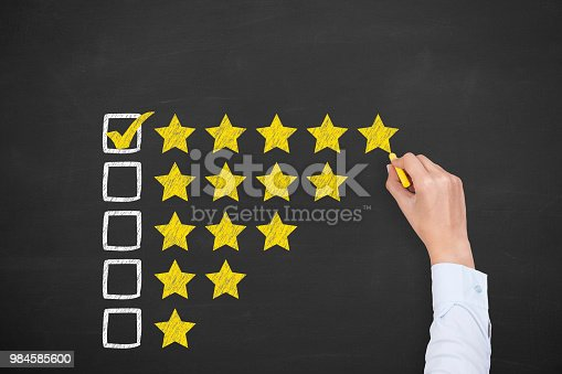 istock Customer service evaluation 984585600