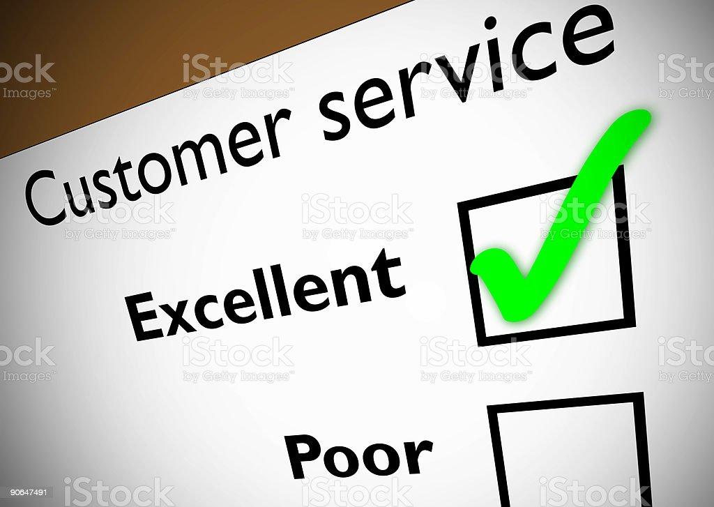 Customer service feedback royalty-free stock photo