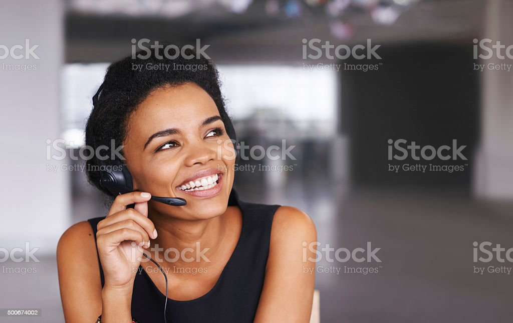 Customer service is not a department, it's an attitude stock photo