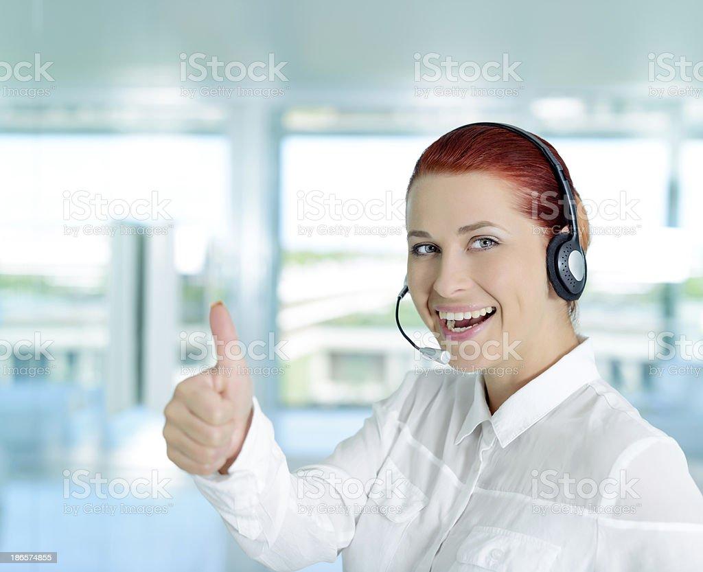 customer service ok sign royalty-free stock photo