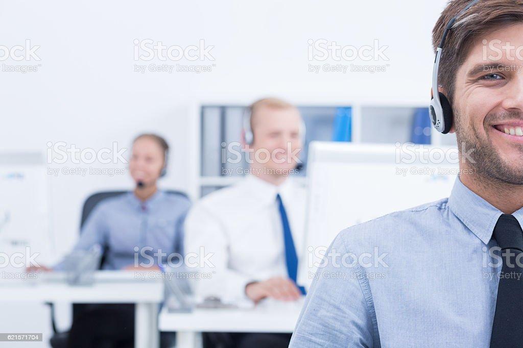 Opérateur de service clientèle photo libre de droits