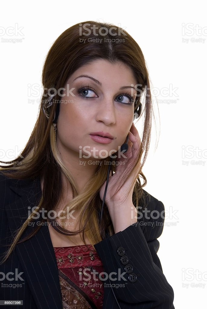 customer service operator royalty-free stock photo