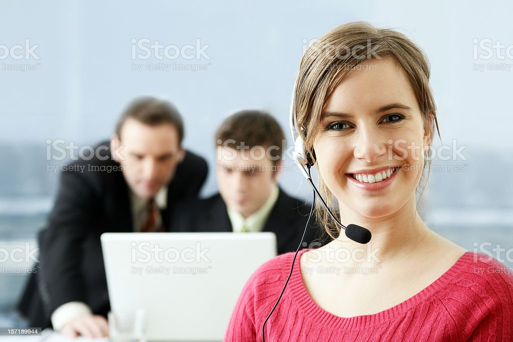Customer service (portrait) royalty-free stock photo