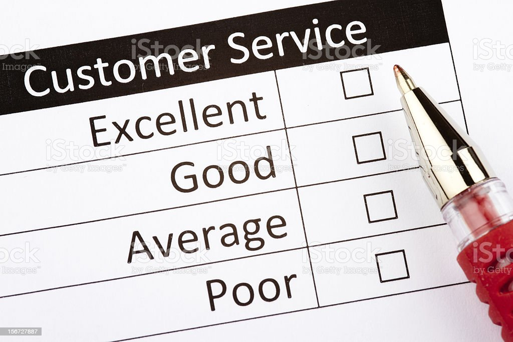 Customer Service Questionnaire royalty-free stock photo