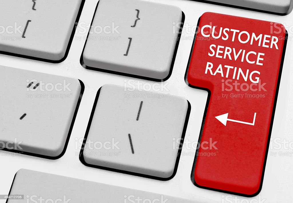 Customer service rating royalty-free stock photo