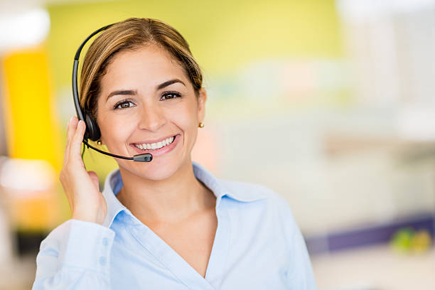customer service representative - switchboard operator stock photos and pictures