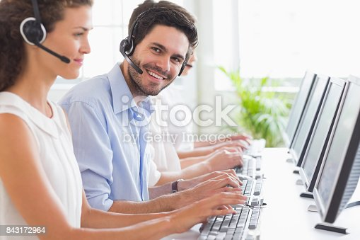 istock Customer service representative working with colleagues 843172964